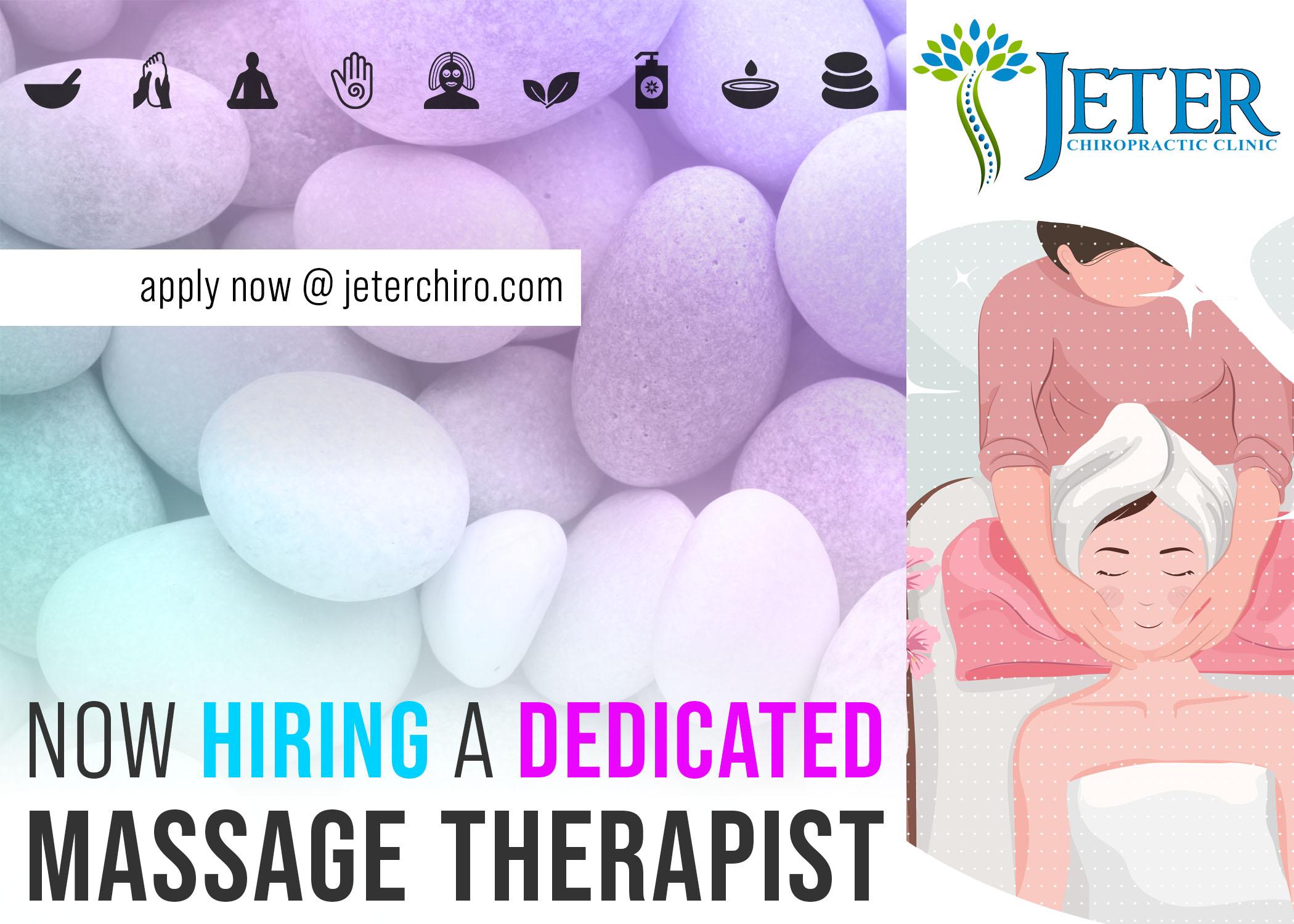 NOW HIRING: Licensed Massage Therapist